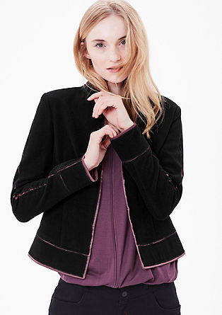 Wool blazer with satin from s.Oliver