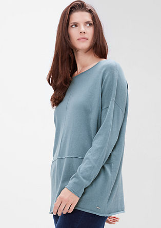Wool blend jumper with decorative stitching from s.Oliver