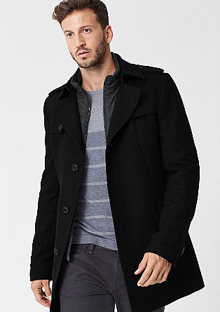 Wool blend slim fit coat from s.Oliver