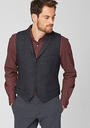 Wool blend waistcoat from s.Oliver