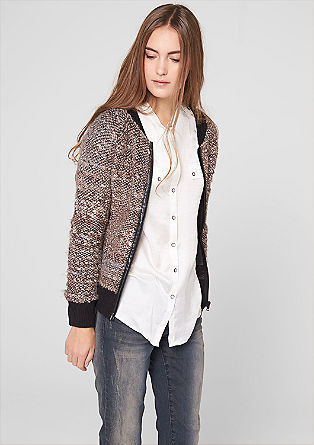 Wool bouclé bomber jacket from s.Oliver