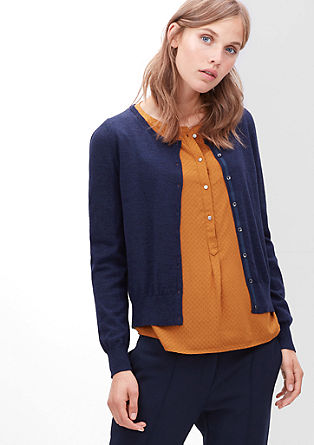 Wool cardigan with shiny buttons from s.Oliver