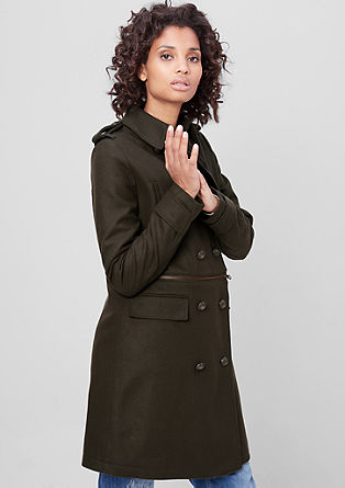 Wool coat in a military style from s.Oliver