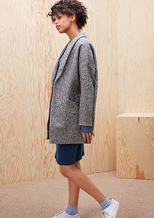 Wool coat in an egg-shaped design from s.Oliver