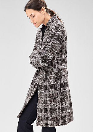 Wool coat in fancy yarn from s.Oliver
