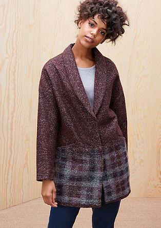 Wool coat in fancy yarn from s.Oliver