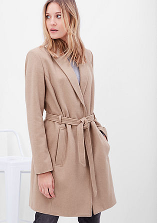 Wool coat with a belt from s.Oliver