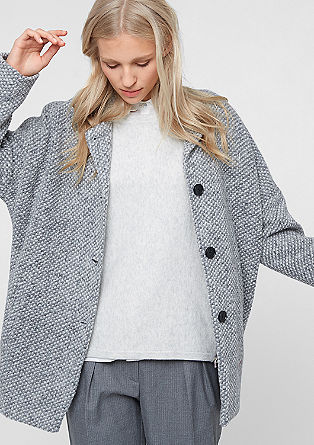 Wool coat with a light lining from s.Oliver
