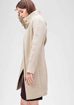 Wool coat with a zip from s.Oliver