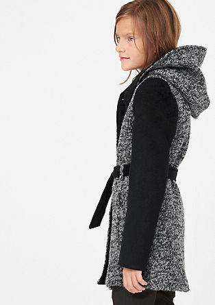Wool coat with contrast details from s.Oliver