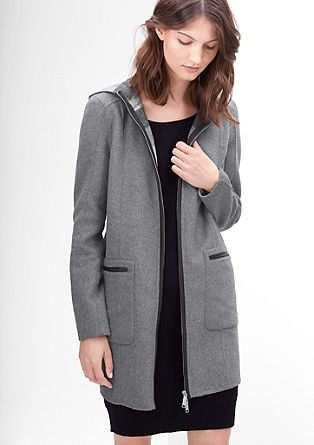 Wool coat with contrasting details from s.Oliver