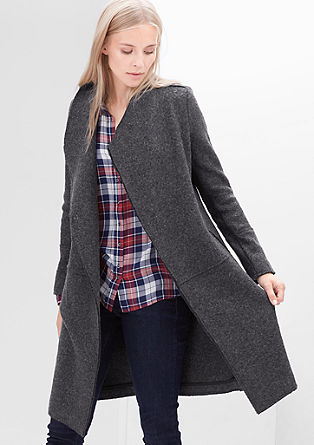 Wool coat with unfinished edges from s.Oliver