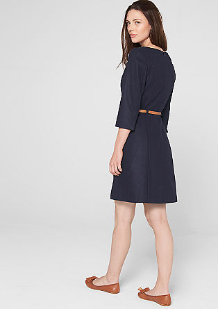 Wool dress with a belt from s.Oliver