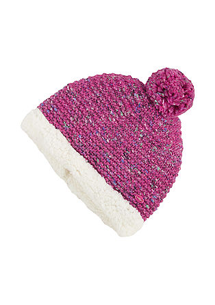 Wool hat with plush lining from s.Oliver