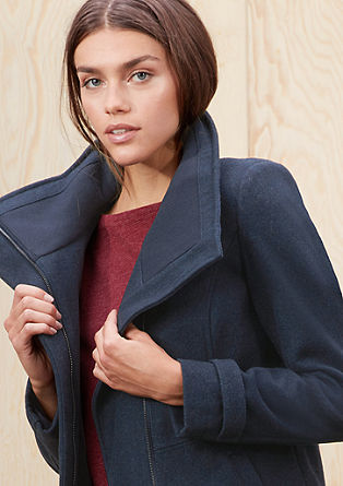 Wool jacket with a high-stand-up collar from s.Oliver