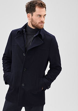 Wool jacket with a zip insert from s.Oliver