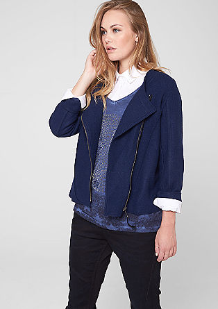 Wool jacket with asymmetric zip from s.Oliver