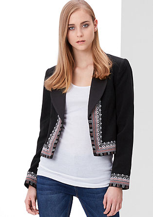 Wool jacket with ethnic embroidery from s.Oliver