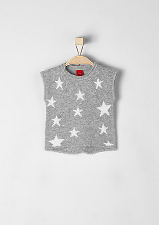 Wool vest with stars  from s.Oliver
