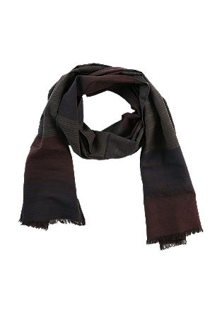 Woven scarf in blended cotton from s.Oliver