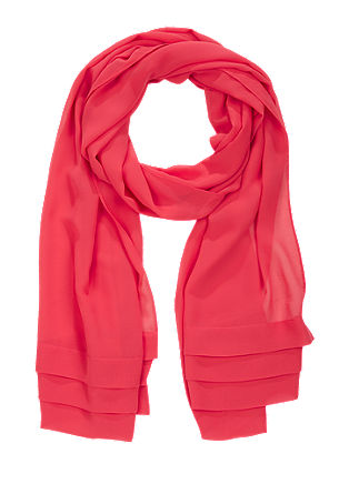 Woven scarf with a chiffon layer from s.Oliver