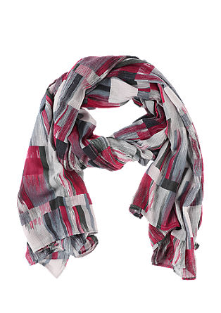 Woven scarf with a geometric pattern from s.Oliver