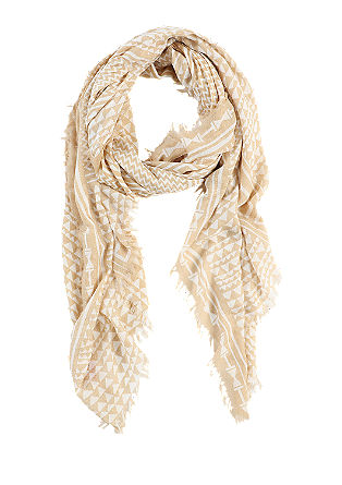 Woven scarf with a textured pattern from s.Oliver