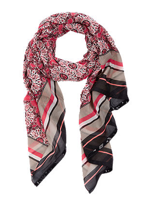 Woven scarf with an all-over pattern from s.Oliver