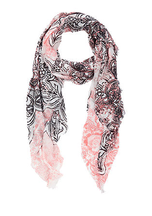 Woven scarf with an all-over print from s.Oliver