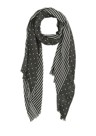 Woven scarf with stripes and polka dots from s.Oliver