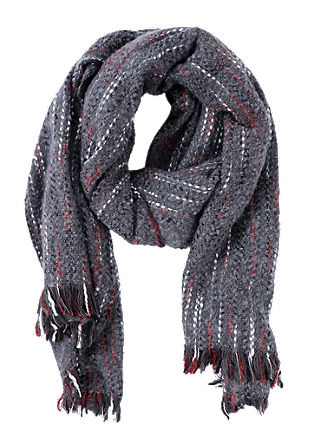 Woven scarf with stripes from s.Oliver