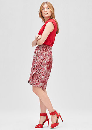 Wrap-effect print skirt from s.Oliver