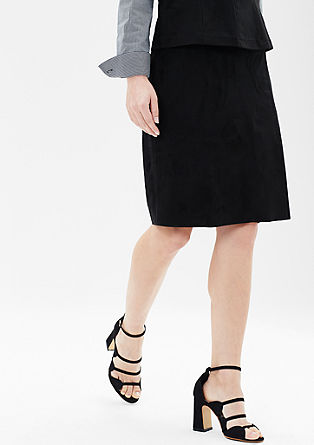 Wrap-over skirt in imitation suede from s.Oliver