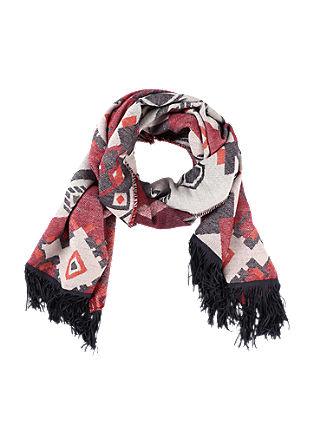 XL-Ethno-Schal mit Fransen