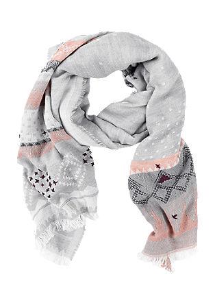 XL-Schal mit Web-Muster