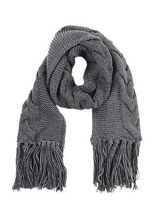 XL-Schal mit Zopfmuster