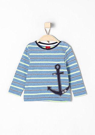 Žakard majica z aplikacijo sidra