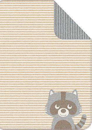 Žakardna odeja za dojenčke z motivom rakuna