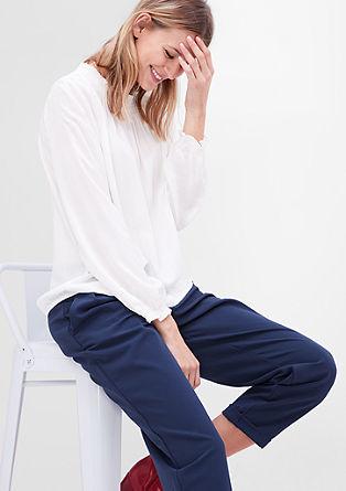 Žakardska bluza z obrobami