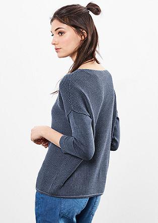 Žakárový pletený pulovr se sepraným efektem