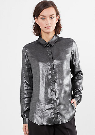 Zarte Bluse im Metallic-Look