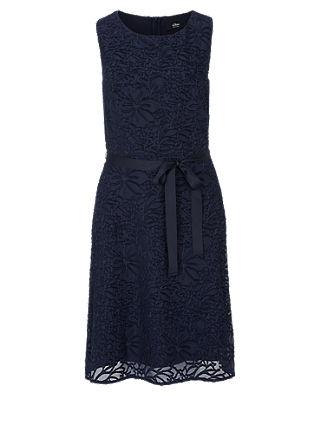 Zartes Kleid mit floralem Webmuster
