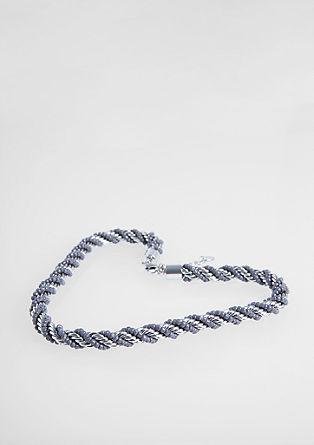 Zavita ogrlica s steklenimi kroglicami