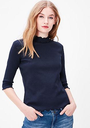Žebrové tričko s3/4 rukávy