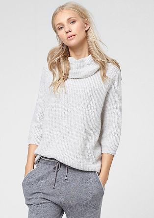 Zelo velik pulover z dodanim kašmirom