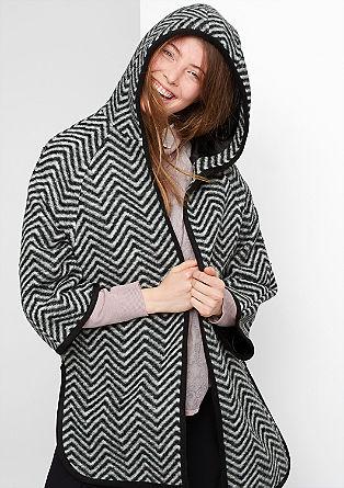 Zelo velika jakna iz volnene mešanice