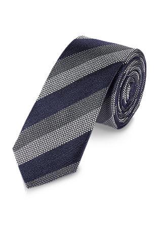 Zijden stropdas met diagonale strepen
