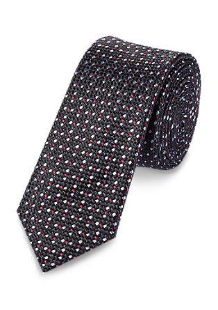 Zijden stropdas met een gemêleerd motief