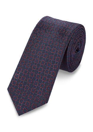 Zijden stropdas met een rastermotief