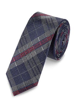 Zijden stropdas met een ruitpatroon